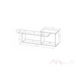 Полка Мебель-Класс Имидж-1, сосна карелия