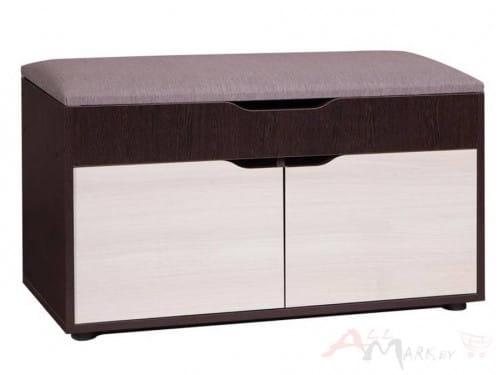 Скамья для прихожей ВА-012.9 Мебель-Класс, , венге / дуб шамони