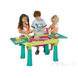 Стол Keter Sand & Water table , бирюза / зеленый / красный