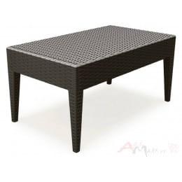 Стол журнальный Keter Central table Ipanema (Miami rattan) , коричневый