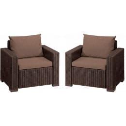 Комплект мебели Keter California 2 chairs (коричневый)