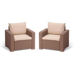 Комплект мебели Keter California 2 chairs (капучино)