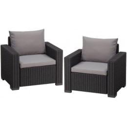 Комплект мебели Keter California 2 chairs (графит)