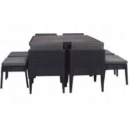 Комплект мебели Keter Columbia Dining Set (9 предметов) (графит)