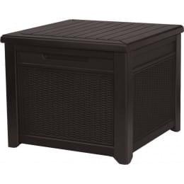 Стол-сундук Keter Cube Rattan 208L, коричневый
