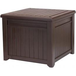 Стол-сундук Keter Cube Wood Look, коричневый