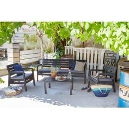 Комплект мебели Keter Delano Set 3-seater (графит)