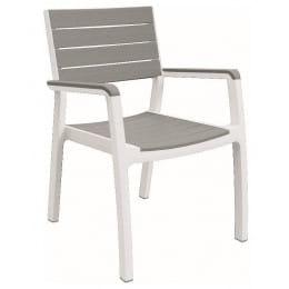 Кресло Keter Harmony Armchair, серый / белый