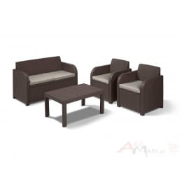 Комплект мебели Allibert Carolina set коричневый