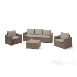 Комплект мебели Keter California 3 Seater Set (капучино / песочный)