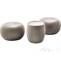 Комплект мебели Keter Knit urban cozy v2 бежевый