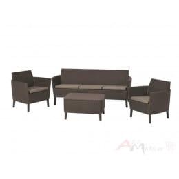 Комплект мебели Keter Salemo 3-Seater коричневый