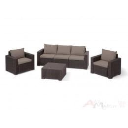 Комплект мебели Keter California 3 Seater Set (коричневый)