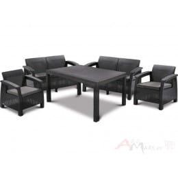 Комплект мебели Keter Corfu Fiesta Set (графит)
