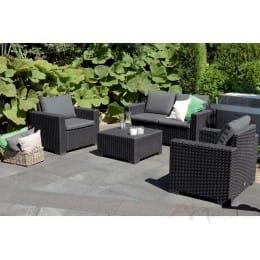 Комплект мебели Keter California 2 Seater графит