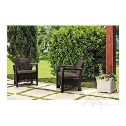 Комплект мебели Keter Tarifa 2 chairs (коричневый)