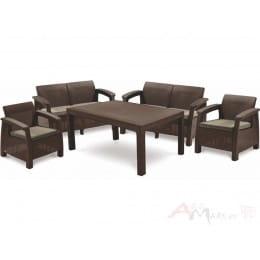 Комплект мебели Keter Corfu Fiesta Set (коричневый)