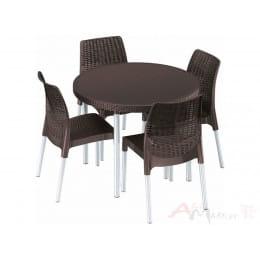 Комплект мебели Keter Jersey Set коричневый
