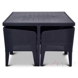 Комплект мебели Keter Columbia Dining Set (5 предметов) (графит)