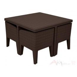 Комплект мебели Keter Columbia Dining Set (5 предметов) (коричневый)