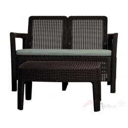 Комплект мебели Keter Tarifa sofa+table (коричневый)