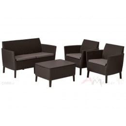 Комплект мебели Keter Salemo 2-Seater Lounge Set коричневый