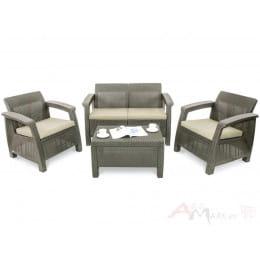 Комплект мебели Keter Corfu Set (капучино / песочный)