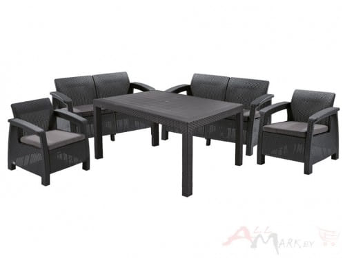 Комплект мебели Allibert Bahamas Fiesta графит