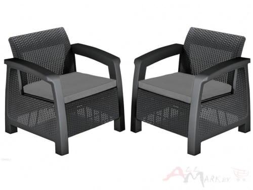 Комплект мебели Allibert Bahamas Duo Set графит