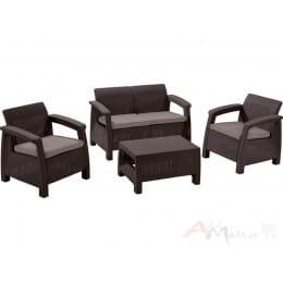 Комплект мебели Keter Corfu Set коричневый
