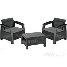 Комплект мебели Allibert Bahamas Weekend Set (2 кресла+столик) графит