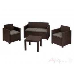 Комплект мебели Keter Alabama set (коричневый)