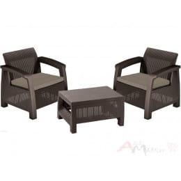 Комплект мебели Allibert Bahamas Weekend Set (2 кресла+столик) коричневый