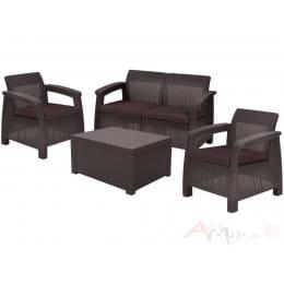 Комплект мебели Keter Corfu Box Set (коричневый)