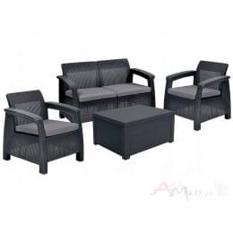 Комплект мебели Keter Corfu Box Set (графит)