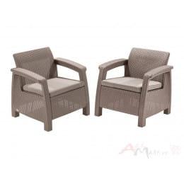 Комплект мебели Keter Corfu Duo Set (капучино)