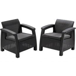 Комплект мебели Keter Corfu II Duo Set (графит)