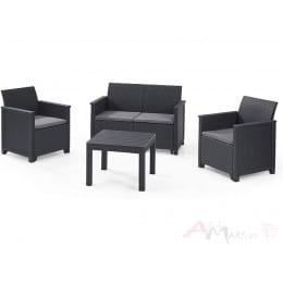 Комплект мебели Keter Emma 2 seater Set (графит)