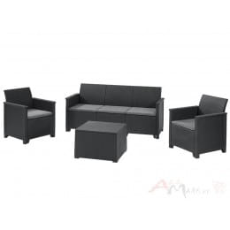 Комплект мебели Keter Emma 3 seater Set (графит)
