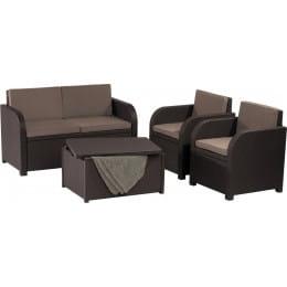 Комплект мебели Keter Modena 2 Set (коричневый)