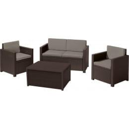 Комплект мебели Allibert Monaco set коричневый