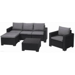Комплект мебели Keter Moorea Set, графит