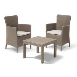 Комплект мебели Keter Salvador balcony set, капучино