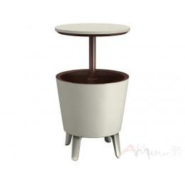 Столик-холодильник Keter Cool Bar белый / коричневый