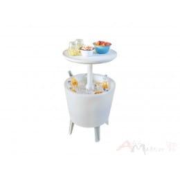 Столик-холодильник с подсветкой Keter illuminated Cool Bar (белый)