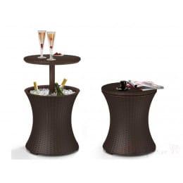 Столик-холодильник Keter Cool Bar Rattan (коричневый)