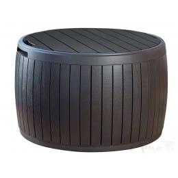 Стол - сундук Keter Circa Wood Storage (коричневый)