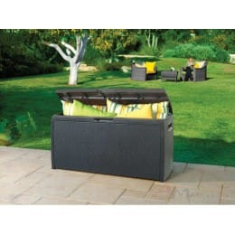 Сундук пластиковый Keter Rattan-Resin Storage Box (графит)