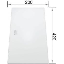 Разделочная доска белое матовое стекло 420х200 мм Blanco 225335