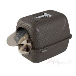 Переноска-туалет для кошек Bama Lettiera prive коричневый